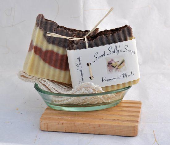 Peppermint Mocha Handmade Organic Soap Hot by SweetSallysSoaps, $7.00