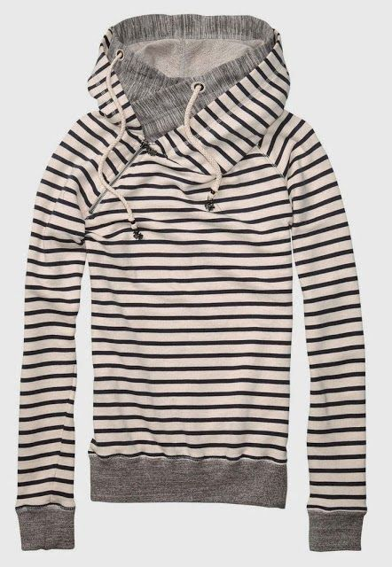 Stripes North Face Hoodie- perfect.