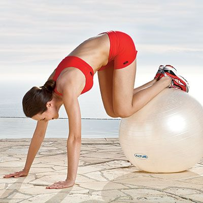 Not sure how to use that exercise ball? This 30-minute Joy Workout will leave you toned and glowing