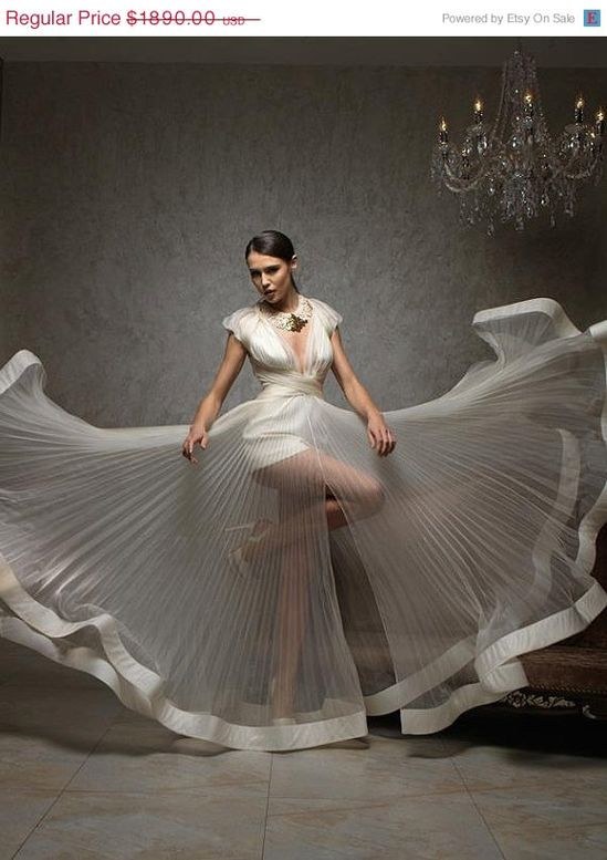 On Sale Modern wedding dress by princessmemaria on Etsy, $1323.00