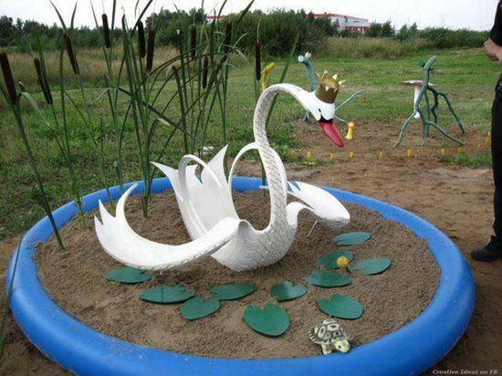 Repurpose an Old Tire into a Swan