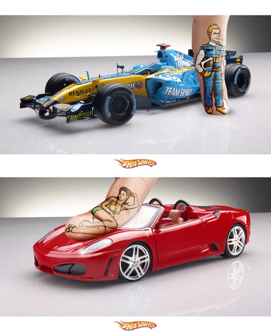 Funny advertising of Hot Wheels
