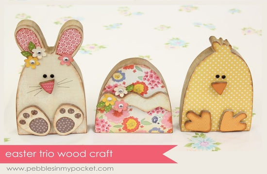 Easter / Spring Wood Crafts available at pebblesinmypocket...