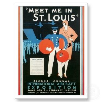 Vintage St.Louis Missouri MO Travel Poster Art postcard