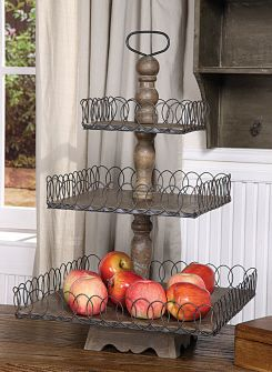 Gray Wood 3-Tiered Decor Tray  **ONCE THIS EXACT PIN (on the @Fabulous Fun Finds Board)  HAS BEEN REPIN 500 TIMES ONE OF THE REPINNERS WILL WIN IT**  Plus another tray will be given away during the Peppermint Giveaways!!
