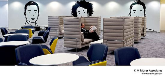 Office designs where workstyle meets lifestyle by M Moser Associates