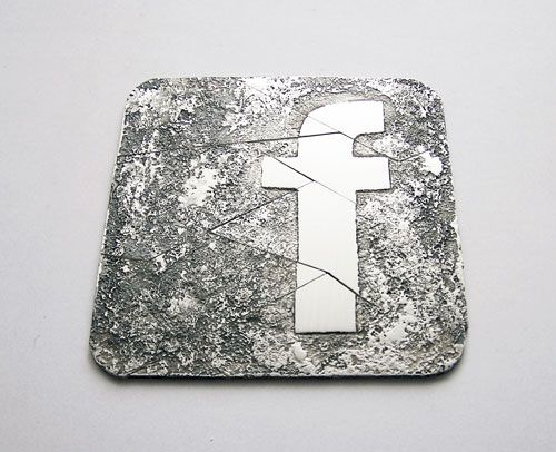 Francesca Gabrielli  Brooch: Social Vices 2012  Silver  7 x 7 cm  Front view. All brooches together. 1