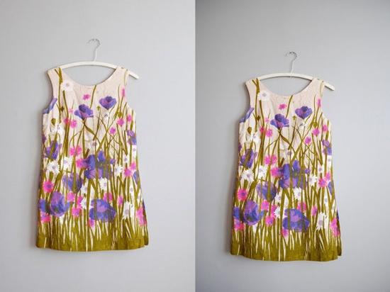 60's Floral Mini Dress