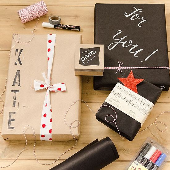 Chalkboard and Kraft Paper Gift Wrap project