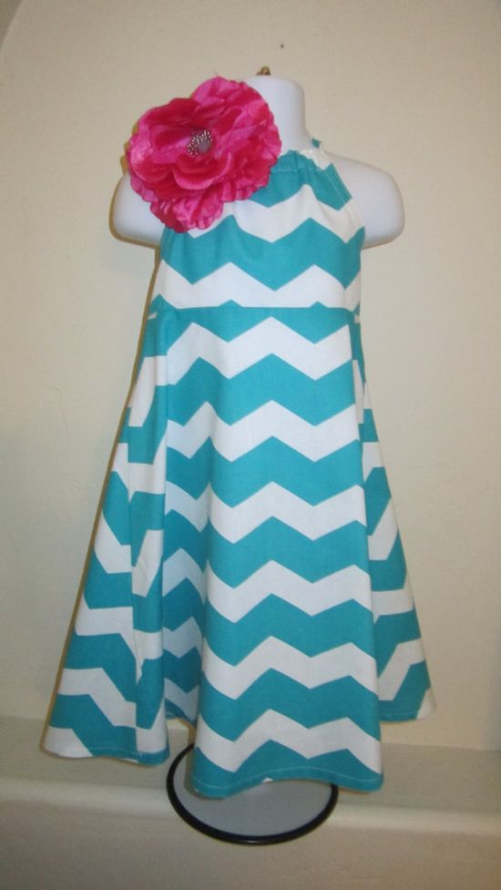 Ready to Ship Girls Chevron Halter Dress Size 3t by BBELLECOUTURE, $39.95