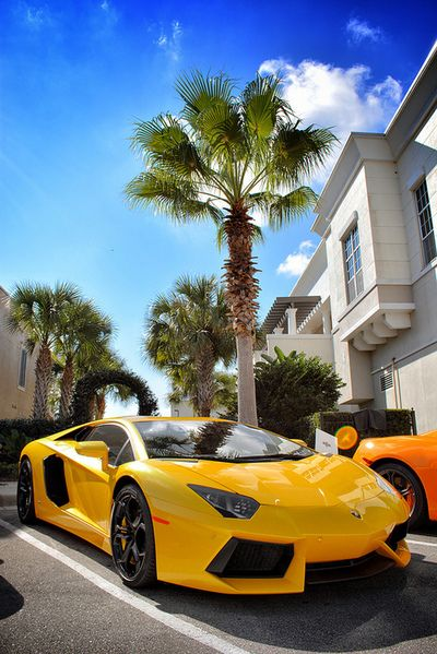 Lamborghini Aventador in SouthBeach, Miami #perfect Click on the pic to win the ultimate Lamborghini supercar experience.