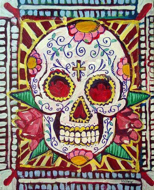 Mexican Sugar Skull Painting
