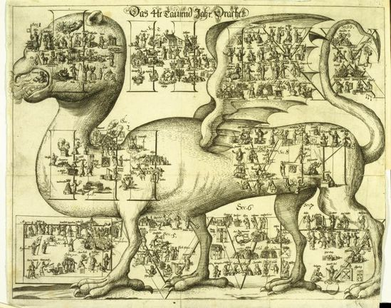 Universal History, depicting 4 millennia before birth of Christ; 1672