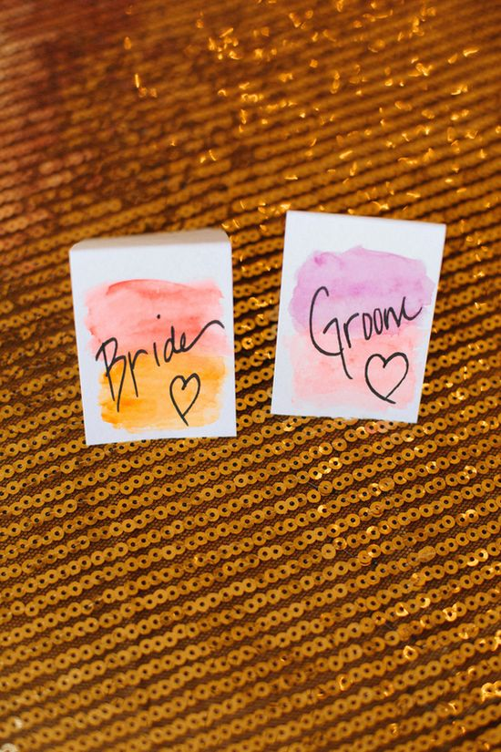 watercolor place cards //