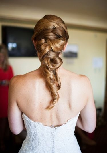 Messy braid wedding hair style