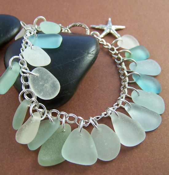 #sea glass #jewelry #bracelet