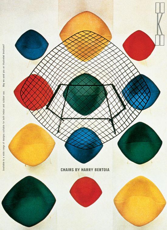 Knoll ad by Herbert Matter (1950's)
