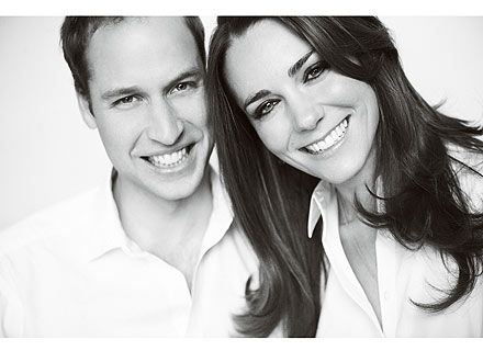 The Duke and Duchess of Cambridge.  They look so happy together.  Bless.