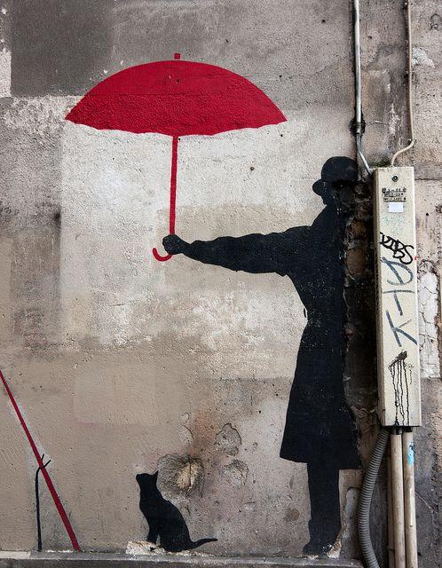 EN ROUGE ET NOIR rue St-Merri, Paris