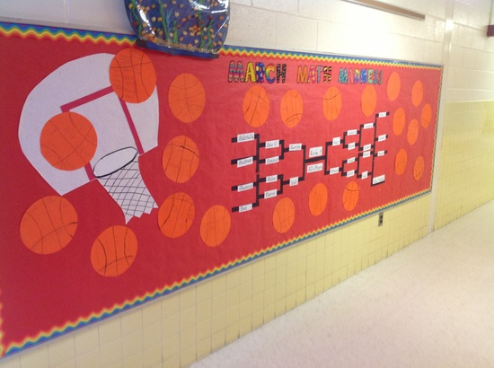 March Bulletin Board - March Math Madness