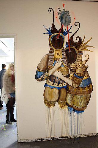 Unknown lovers. Amsterdam, Skount Works #street #art