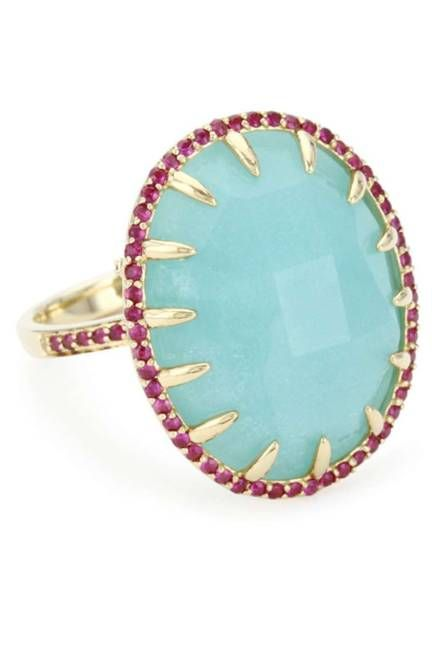 Phillips House 14k yellow gold & pave ruby claw ring