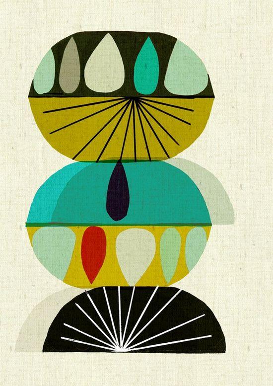 Mid Century Design Print