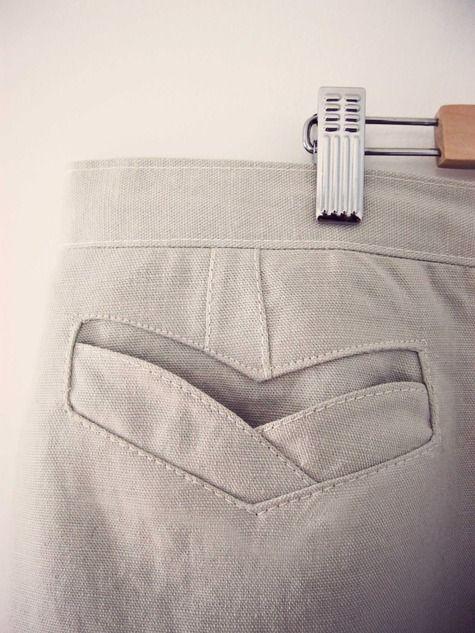Beautiful pocket tutorial #sewing #skirt