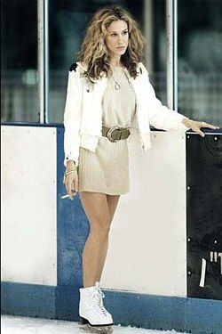 Carrie Bradshaw smoking on the ice
