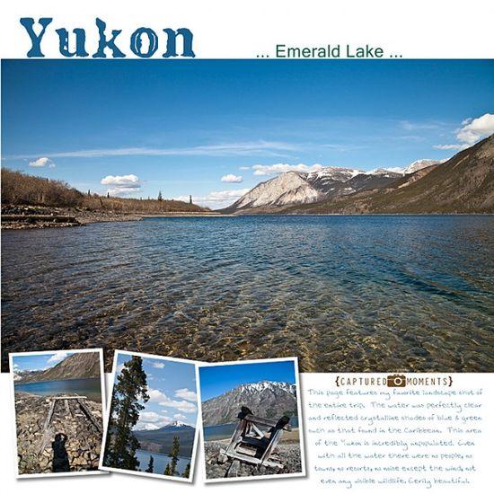 #Disney #Scrapbook Layout - @Nancy Walman Alaska Yukon Emerald Lake