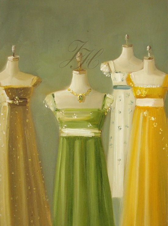 Jane Austen Dresses by Janet Hill