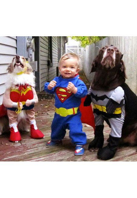 Cute kids and dogs: Superheroes to the rescue!