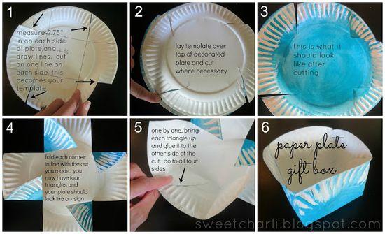 Sweet Charli: DIY Gift Box Using a Paper Plate!