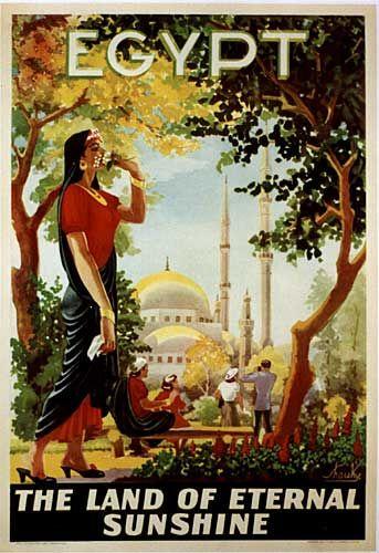 Vintage travel poster of #Egypt