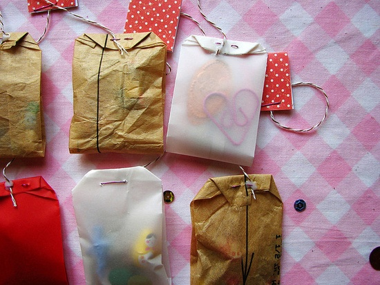 Tea bags of goodies--it would be cute if you made thesevinto favors for a tea party