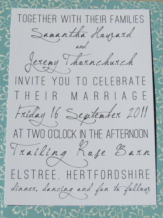 Possible wedding invitation...