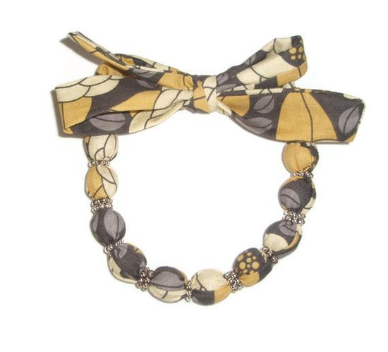 Fabric Necklace Choker made with Joel Dewberry Bloom by xoribbons, $20.00