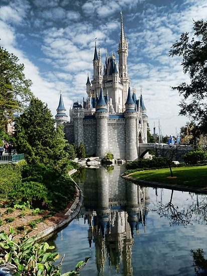 Neat picture of Cinderella Castle at the Magic Kingdom in Walt Disney World
