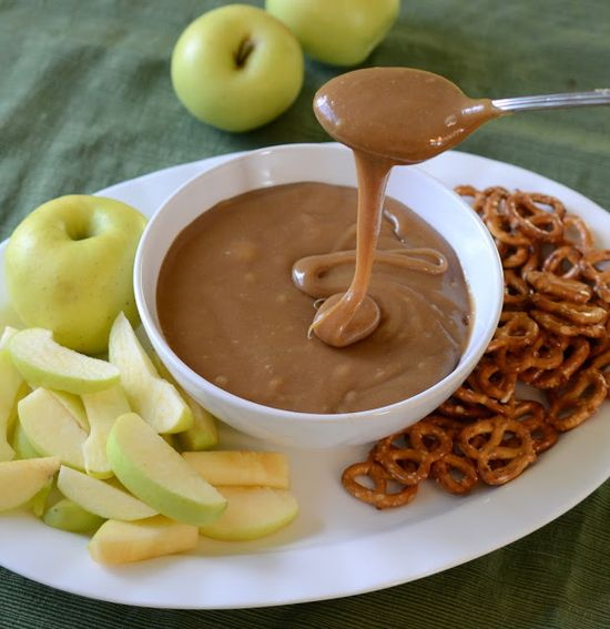 perfect caramel dip for apples and pretzels,  10 Amazing Apple Recipes just in time for fall!