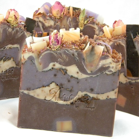 Dark Kiss Vegan Artisan Soap by SV.Soaps.