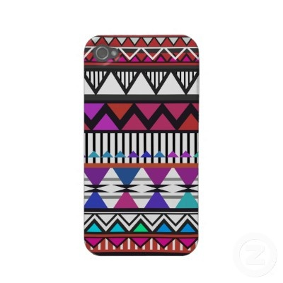Red & Pink Tribal Pattern iPhone 4/4S Case-Mate Ca by OrganicSaturation