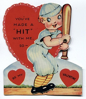 You've made a hit with me. #baseball #vintage #cute #Valentines #cards