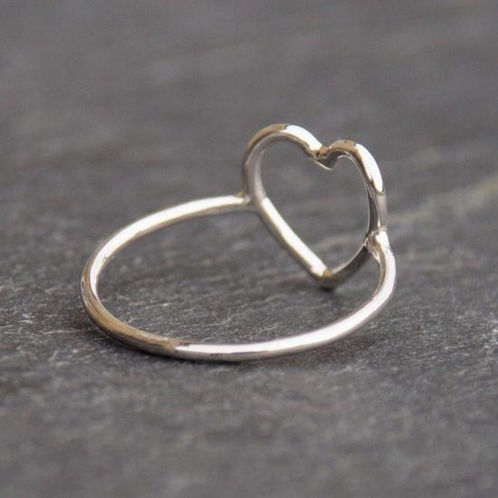 silver heart ring (LOVE it), etsy $23