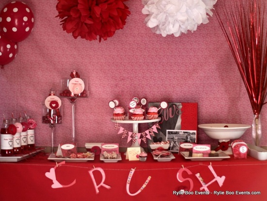 Pink and red wedding ideas [dessert tables]