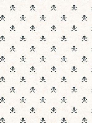 York Wallpaper - SKULL CROSSBONE SPOT - BT2824 - Our Price:  $30.25 Per Roll  #interior #Decor