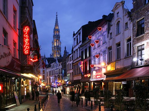 Brussels, Belgium. This was such a gorgeous city and their Belgium waffles were delish :P