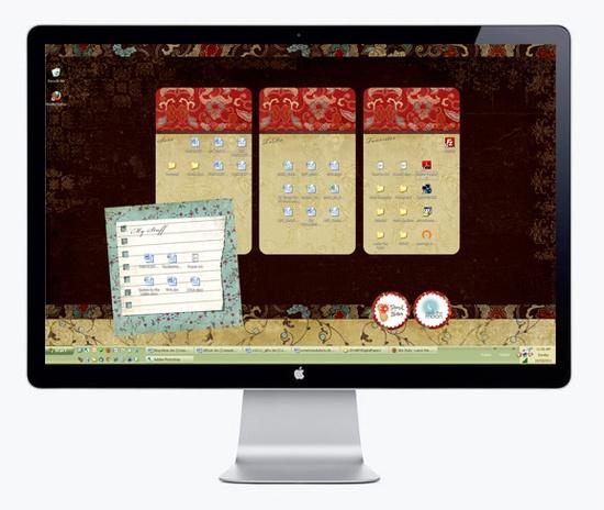A beautifully organized desktop
