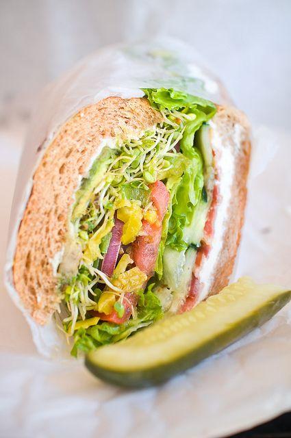 garden veggie sandwich... #healthy #sandwich