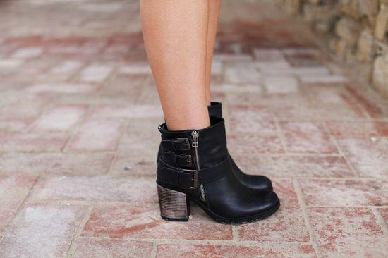 #fashion #shoes biker boots