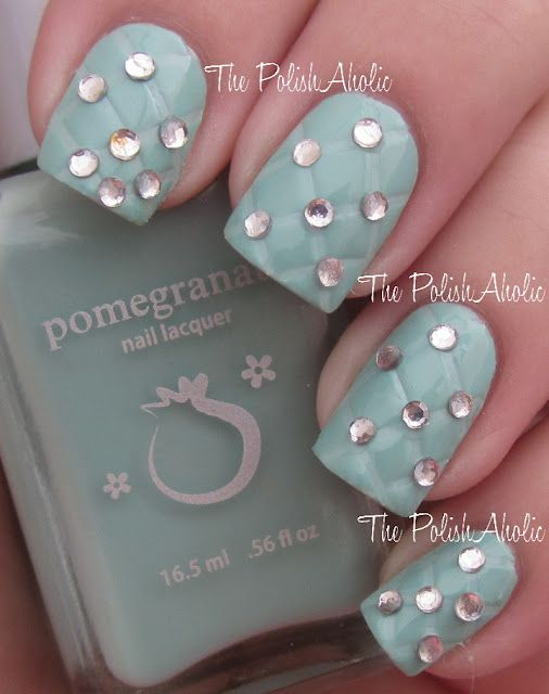 Nail Art : Studded Quilting!